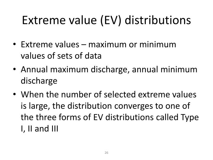 Extreme value (EV) distributions