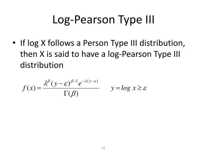 Log-Pearson Type III