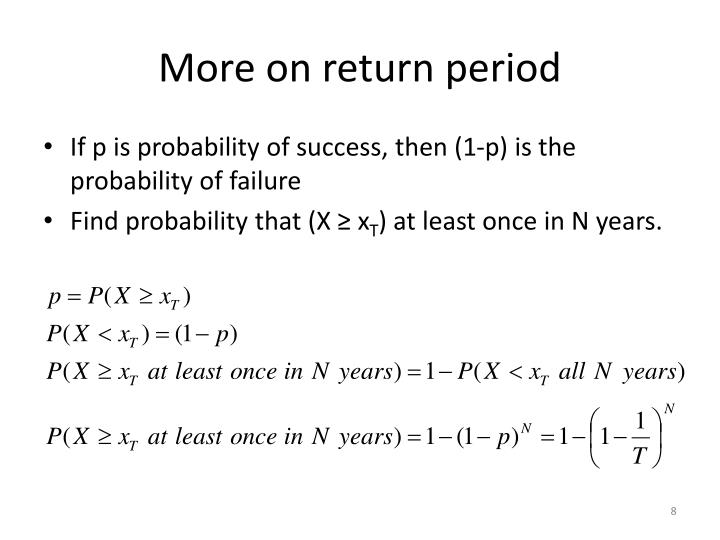 More on return period