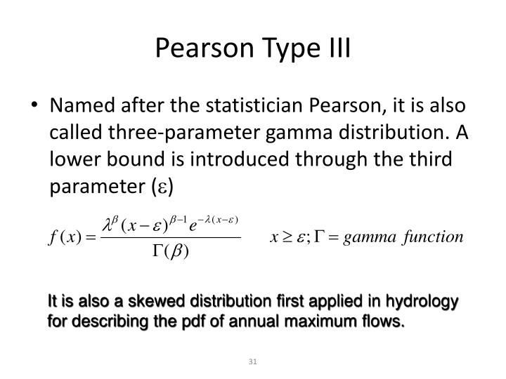 Pearson Type III