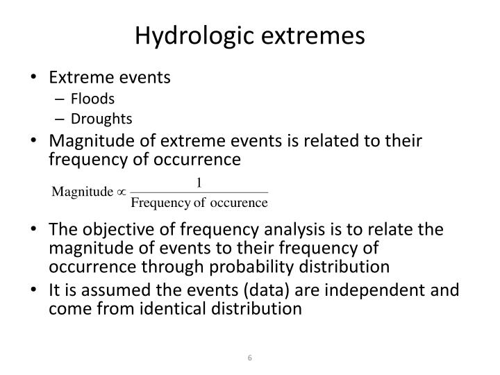 Hydrologic extremes