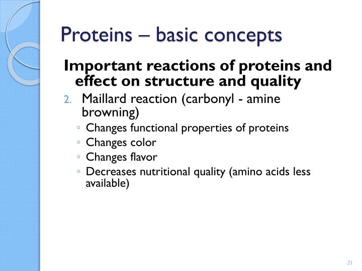 Proteins – basic concepts