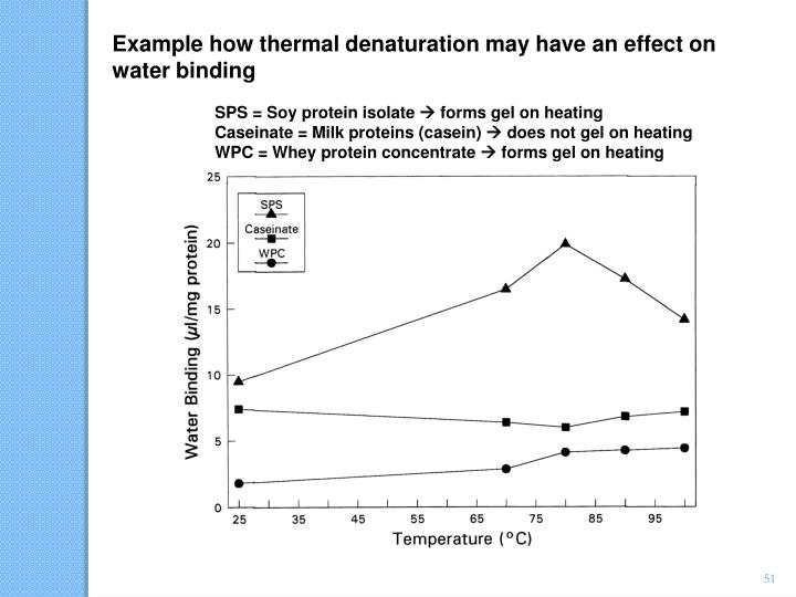 Example how thermal denaturation may have an effect on