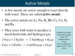 active metals