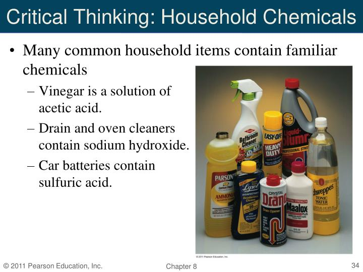 Critical Thinking: Household Chemicals
