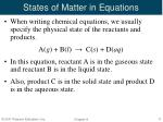 states of matter in equations