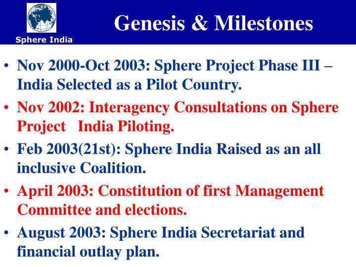 Genesis & Milestones