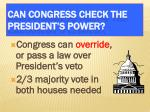can congress check the president s power