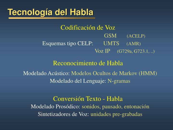 Tecnología del Habla