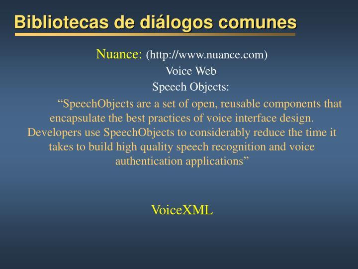 Bibliotecas de diálogos comunes