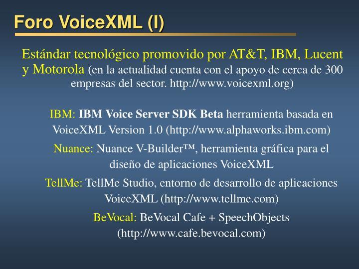 Foro VoiceXML (I)