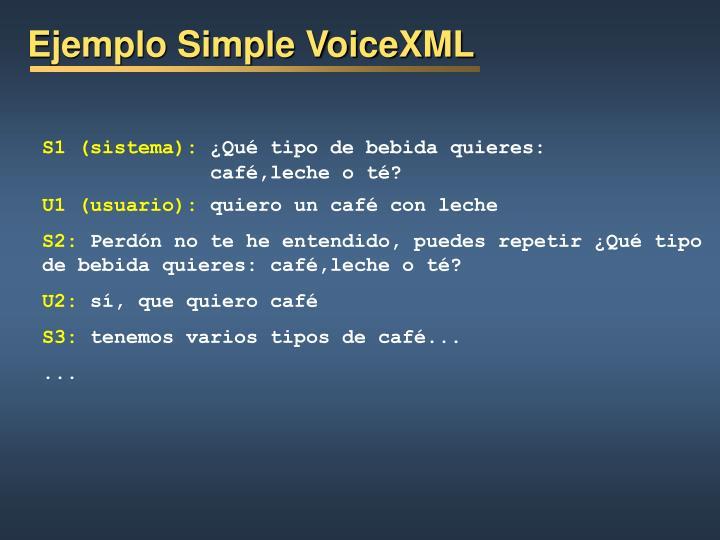 Ejemplo Simple VoiceXML