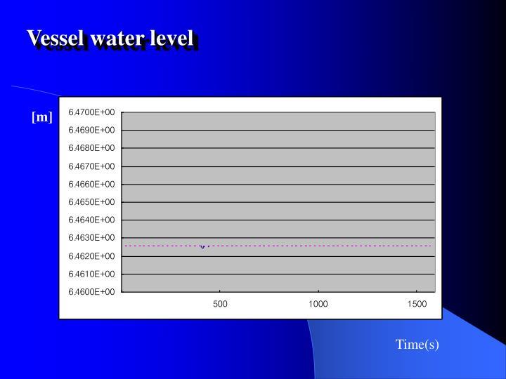 Vessel water level