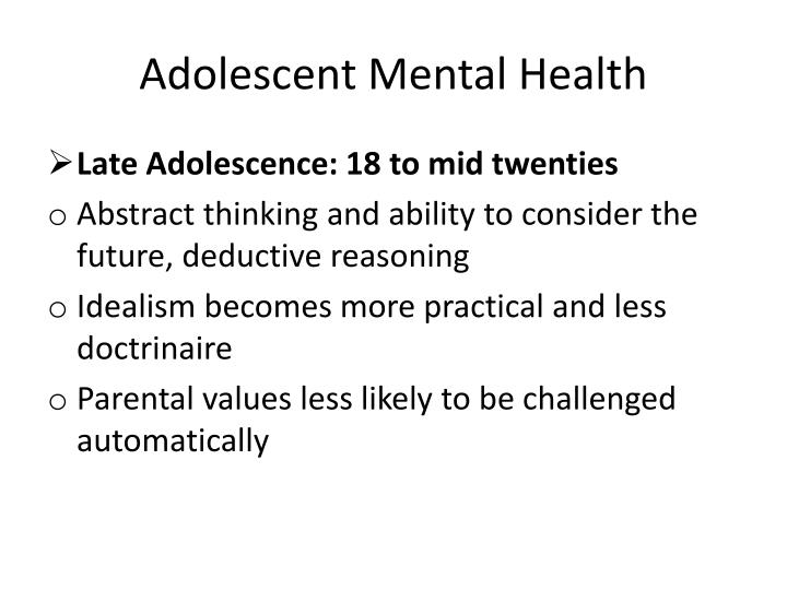 Adolescent Mental Health