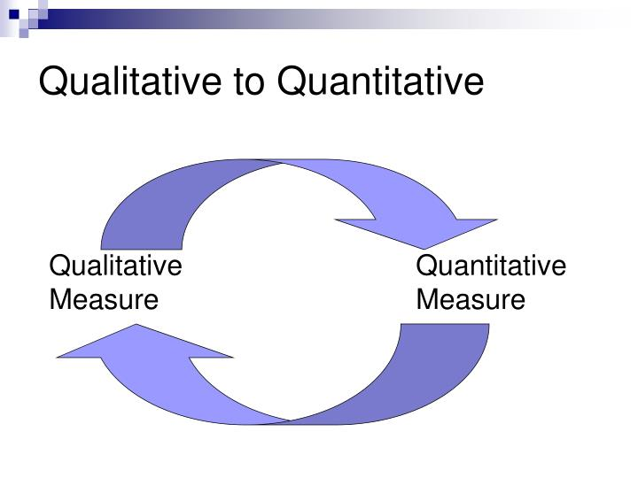 Qualitative to Quantitative