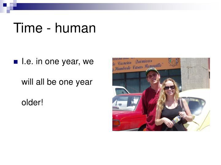 Time - human