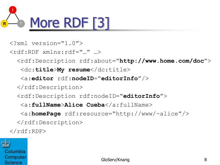 More RDF [3]