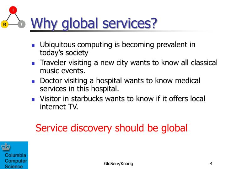Why global services?