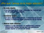 por qu canopy es la mejor soluci n