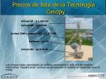 precios de lista de la tecnolog a canopy