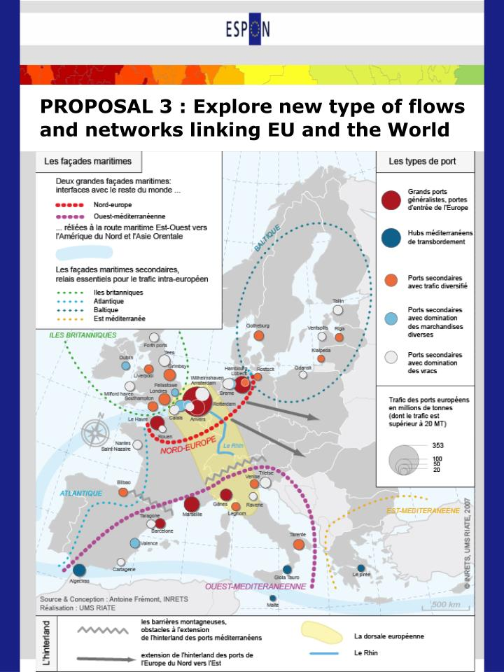 PROPOSAL 3 : Explore new type of flows and networks linking EU and the World