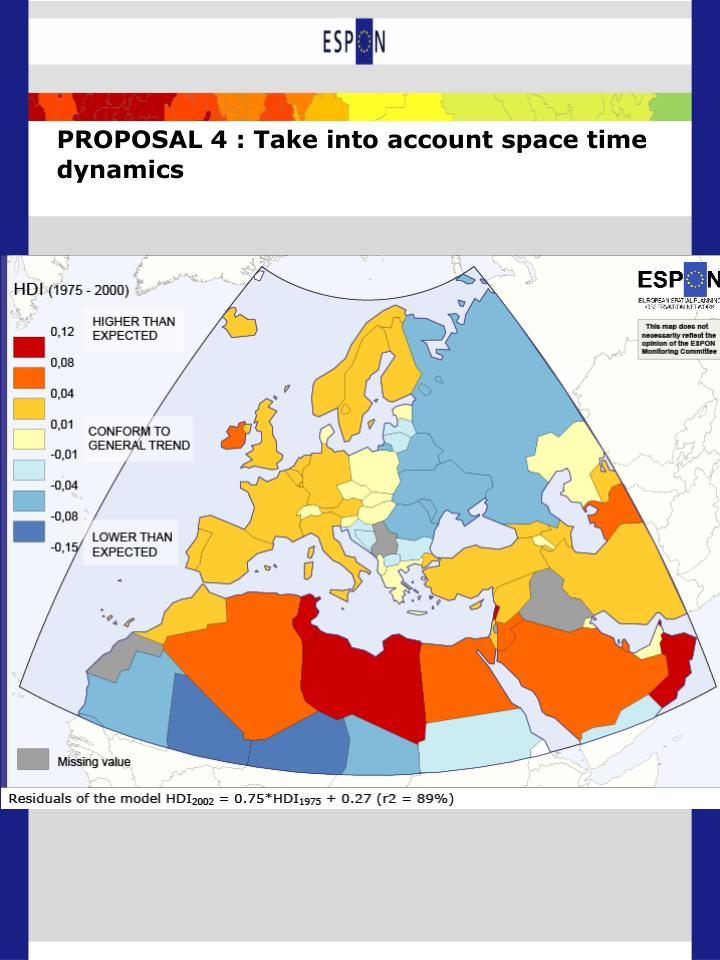 PROPOSAL 4 : Take into account space time dynamics