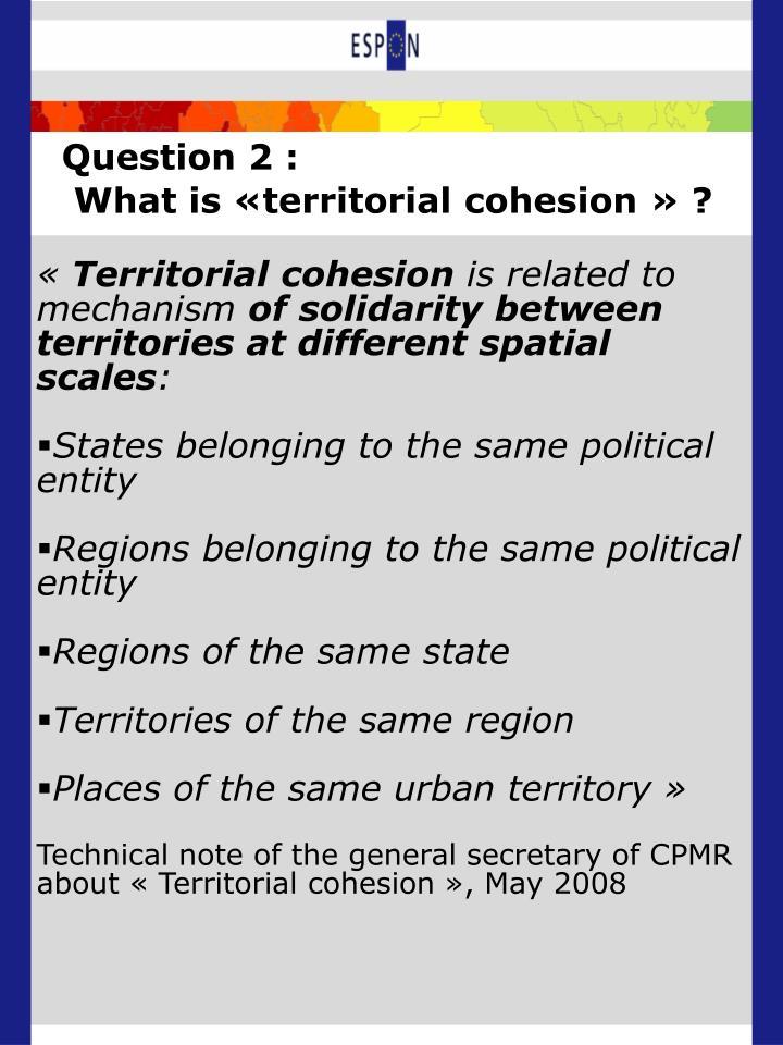 Question 2 :