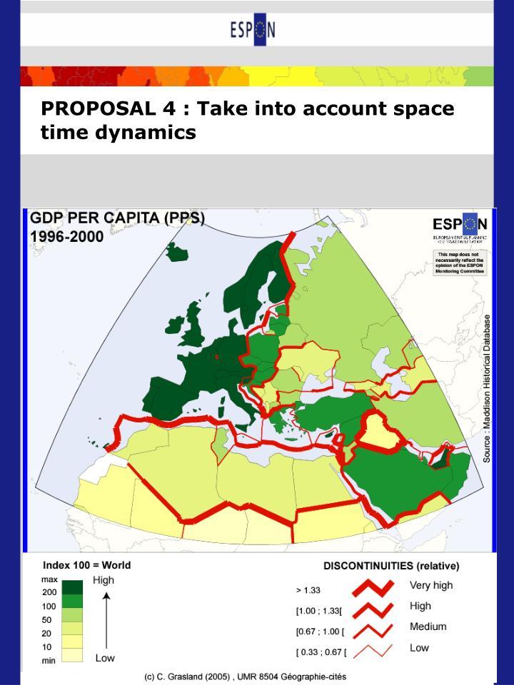 PROPOSAL 4 : Take into account space time dynamics