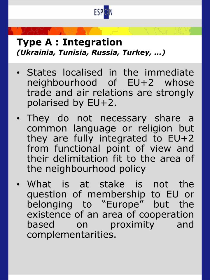 Type A : Integration