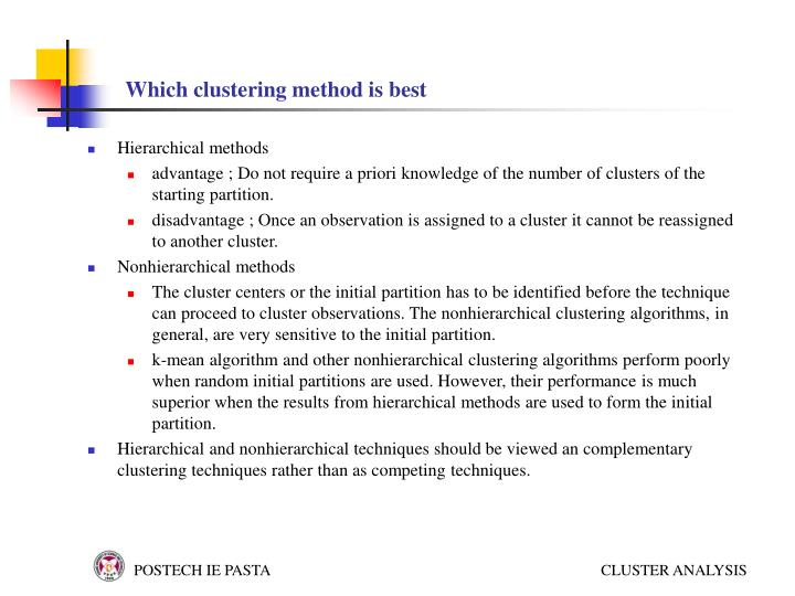 Which clustering method is best