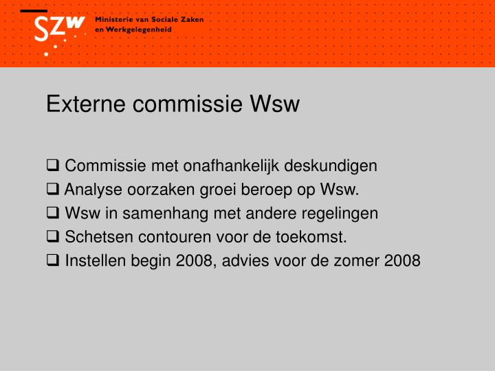 Externe commissie Wsw