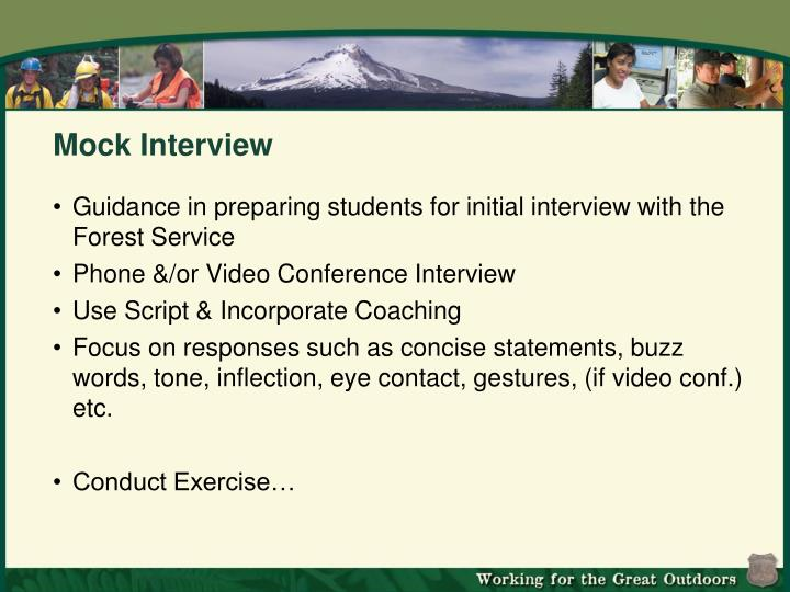 Mock Interview