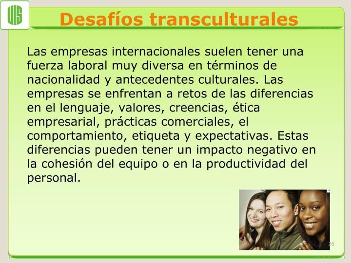 Desafíos transculturales