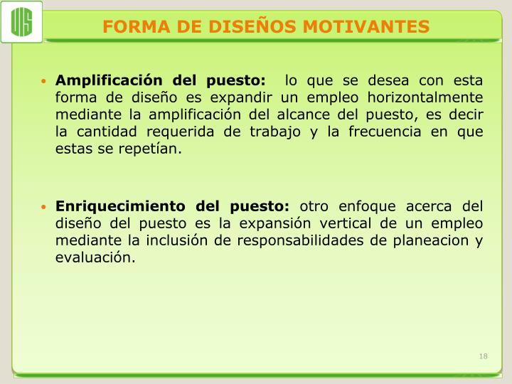 FORMA DE DISEÑOS MOTIVANTES