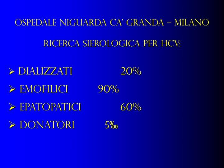OSPEDALE NIGUARDA CA' GRANDA – MILANO