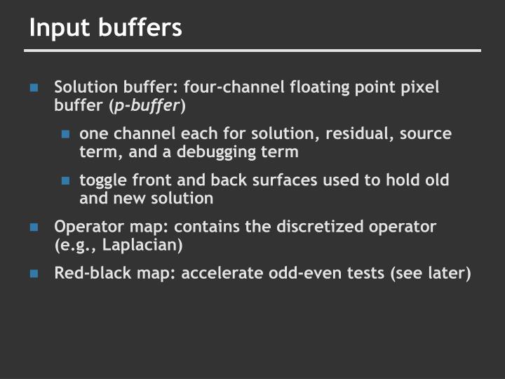 Input buffers