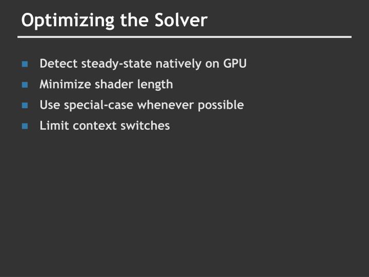 Optimizing the Solver