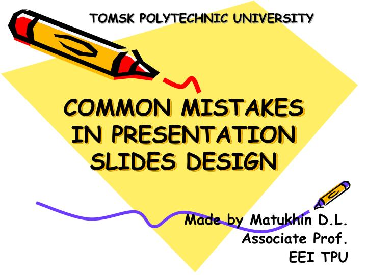 Common mistakes in presentation slides design