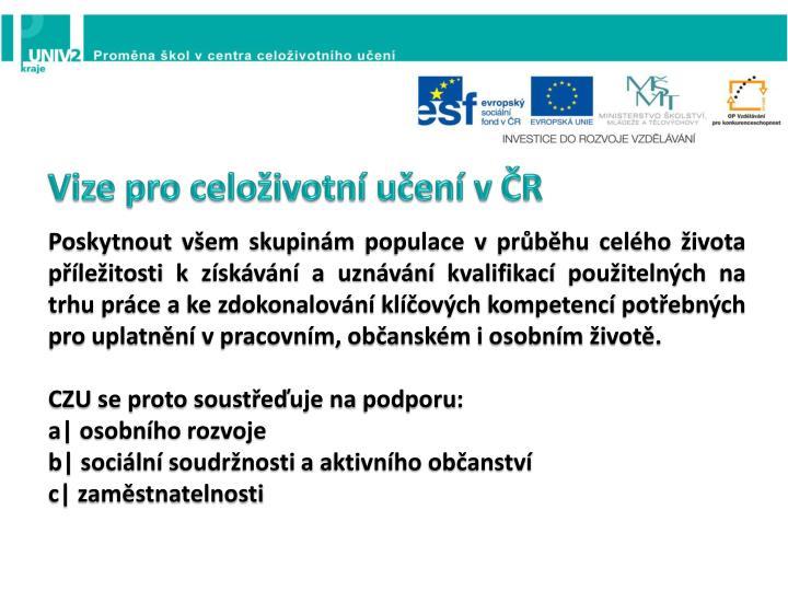 Vize pro celoživotní učení v ČR