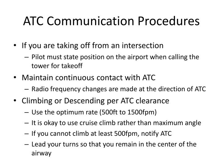 ATC Communication Procedures