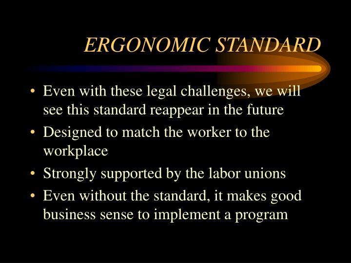 ERGONOMIC STANDARD