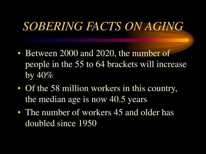 Sobering facts on aging