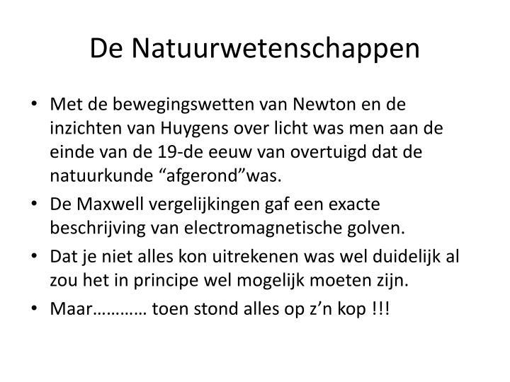De Natuurwetenschappen