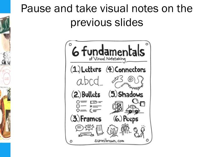 Pause and take visual notes on the previous slides