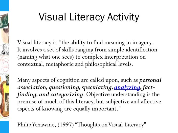 Visual Literacy Activity