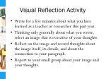 visual reflection activity