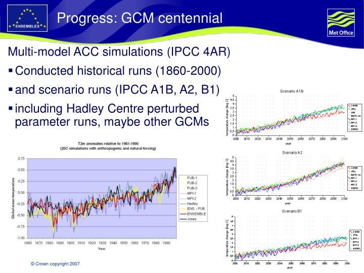 Progress: GCM centennial