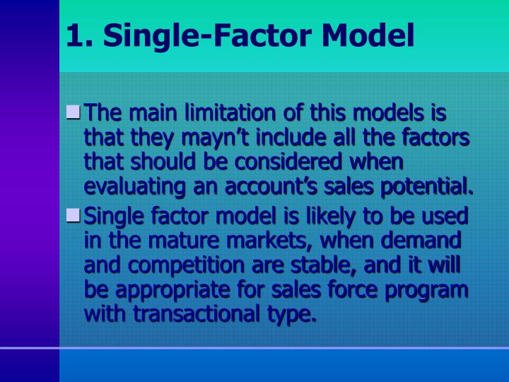 1. Single-Factor Model