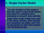 1 single factor model1