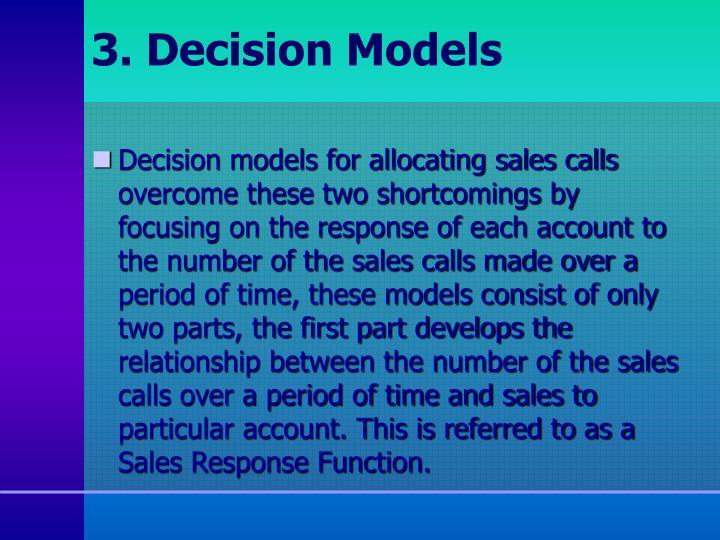 3. Decision Models